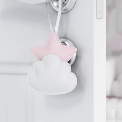 Lembrancinha Maternidade Mon Petit Nuvem e Estrela Rosa