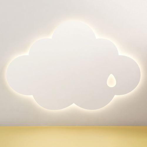 Luminária de Parede Nuvem Gotinha 30cm