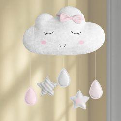 Móbile Nuvem de Algodão Rosa