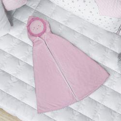 Toalha com Capuz Infantil Sol Rosa 90cm