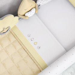 Jogo de Lençol para Mini Cama Gotinhas Amarelo