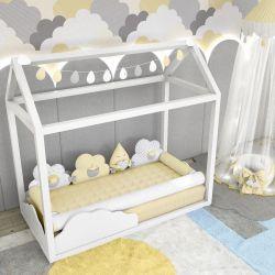Quarto de Bebê Montessoriano Nuvem de Algodão Amarelo