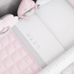 Jogo de Lençol para Mini Cama Gotinhas Rosa