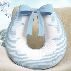 Almofada Amamentação Listrada Azul/Branco