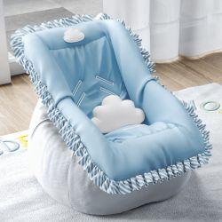 Capa de Bebê Conforto Nuvem de Algodão Azul