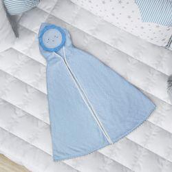 Toalha com Capuz Infantil Sol Azul 90cm