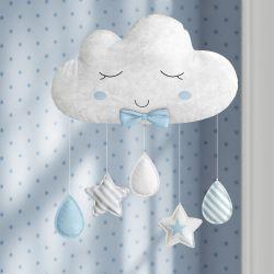 Móbile Nuvem de Algodão Azul