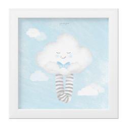 Quadro Nuvem de Algodão Azul