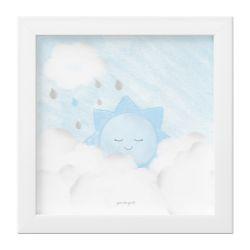 Quadro Solzinho nas Nuvens Azul
