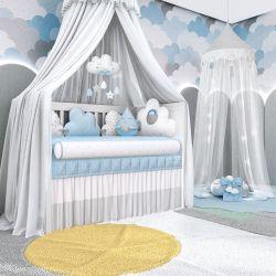 Quarto de Bebê Nuvem de Algodão Azul