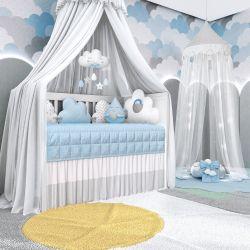 Quarto de Bebê Nuvem de Algodão Azul 17 Peças
