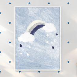Quadro Arco-Íris Azul Marinho