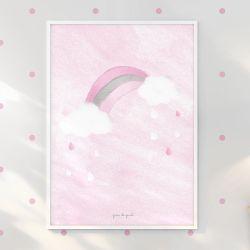 Quadro Arco-Íris Rosa