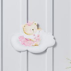 Adesivo de Parede Amiguinha Ursa Princesa 16,5cm