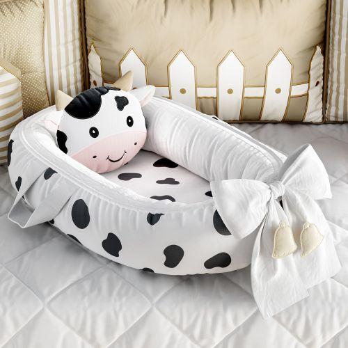 Ninho para Bebê Redutor de Berço Amiguinha Vaquinha 80cm
