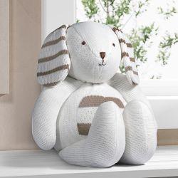Cachorrinho Clássico Tricot Branco/Bege 42cm