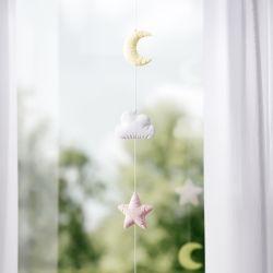 Pêndulo Cortina Estrela, Nuvem e Lua