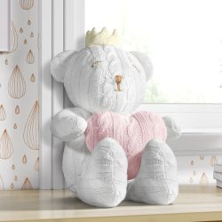 Ursa Tricot com Coração 42cm