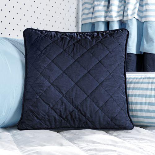 Almofada Quadrada Matelassê Azul Marinho 38cm
