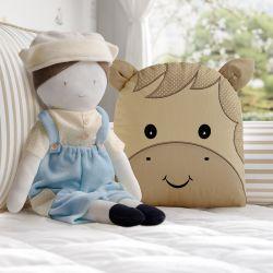 Almofada Amiguinho Cavalinho e Boneco Fazendeiro 2 Peças