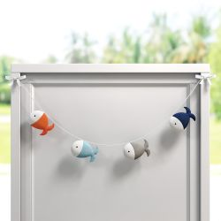 Varal Decorativo Peixinhos 90cm