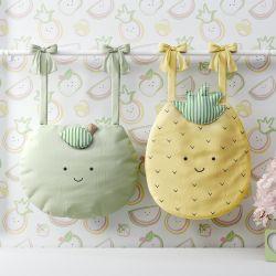Porta Fraldas Varão Amiguinhos Abacaxi e Maçã Verde