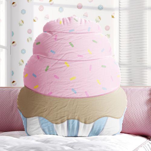 Almofada Doce Encanto Cupcake 40cm