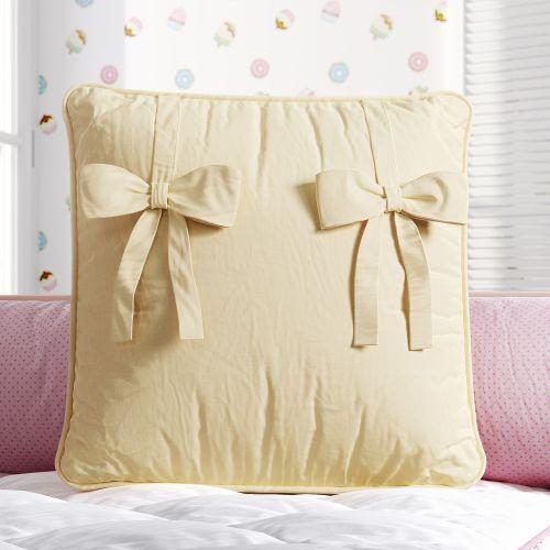 Almofada Quadrada Laços Amarelos 38cm