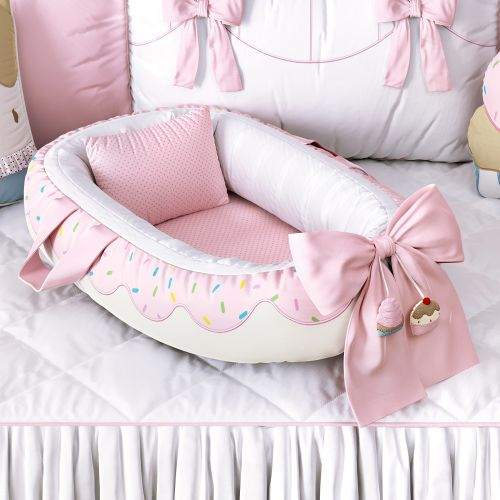 Ninho para Bebê Redutor de Berço Donut Doce Encanto 80cm