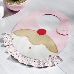 Babador Cupcake Cerejinha Doce Encanto