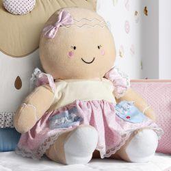Boneca de Pelúcia Mamãe Biscoitinha 33cm
