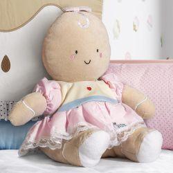 Boneca de Pelúcia Bebê Biscoitinha 23cm