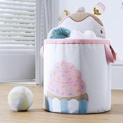 Cesto Organizador para Brinquedos Cupcake 28cm