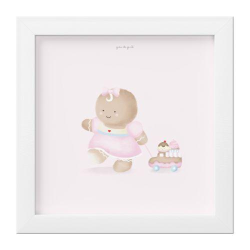 Quadro Bebê Biscoitinha e os Cupcakes