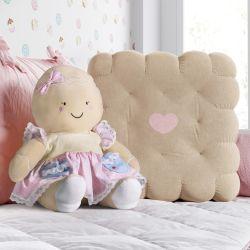 Almofada Bolachinha e Boneca Mamãe Biscoitinha 2 Peças