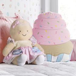 Almofada Cupcake e Boneca Mamãe Biscoitinha 2 Peças