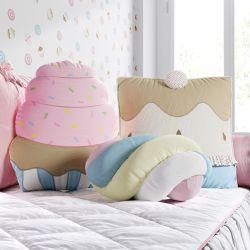 Almofadas Cupcake e Rolinho Marshmallow 3 Peças