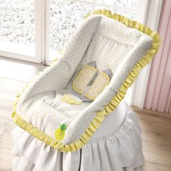 Capa de Bebê Conforto com Protetor de Cinto Amiguinho Abacaxi