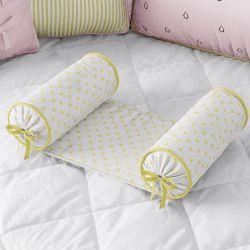 Rolinho Protetor Segura Bebê Triângulos Amarelo