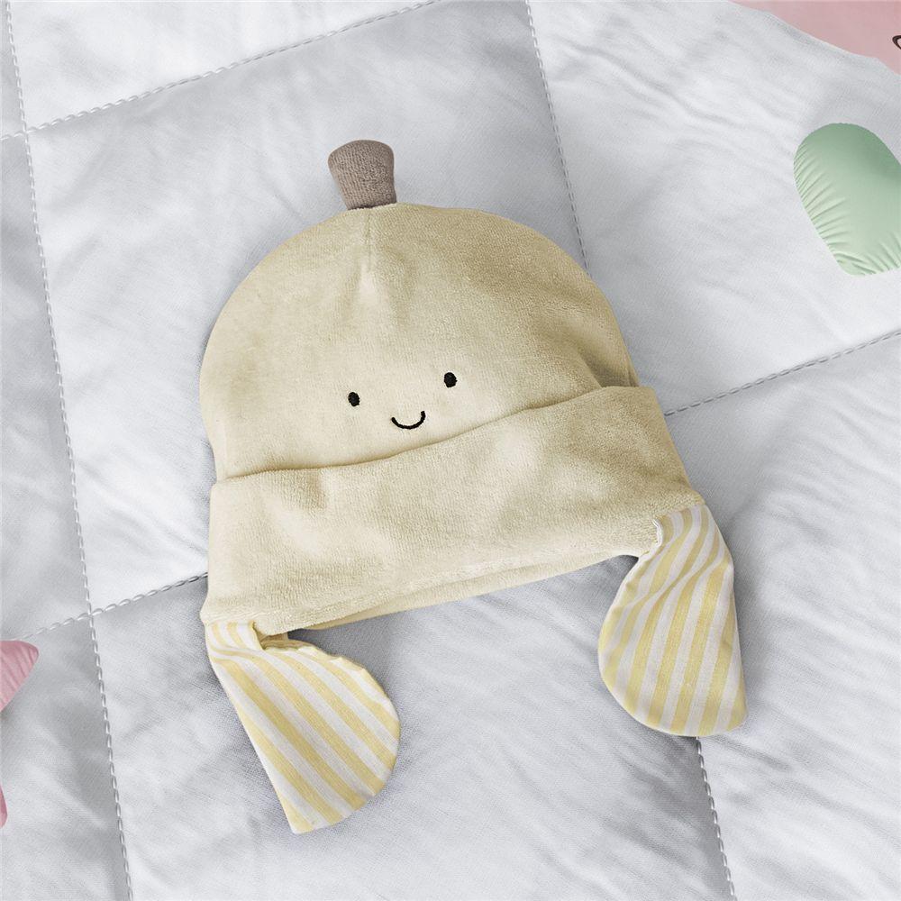 Touca Bebê Amarelo Amiguinha Bananinha 3-6 M Grão de Gente