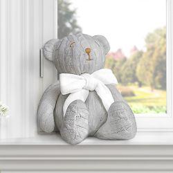 Urso Tricot Cinza 42cm