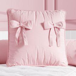 Almofada Quadrada Laços Cor de Rosa 38cm