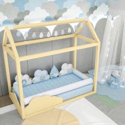 Quarto de Bebê Montessoriano Nuvem de Algodão Azul