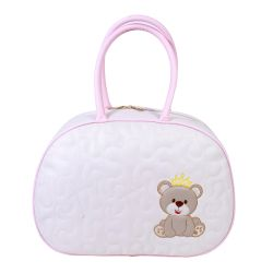 Bolsa Maternidade Arabesco Off White/Rosa