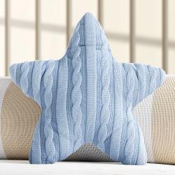 Almofada Estrela Tricot Azul