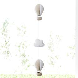 Pêndulo Cortina Nuvem Balão Bege