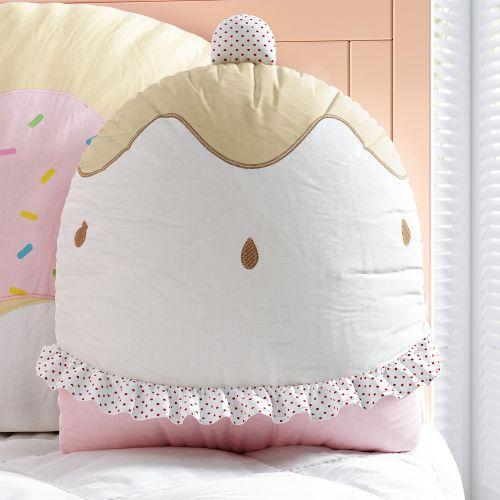 Almofada Doce Encanto Cupcake Cerejinha 35cm