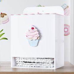 Porta Fraldas Cupcake Doce Encanto