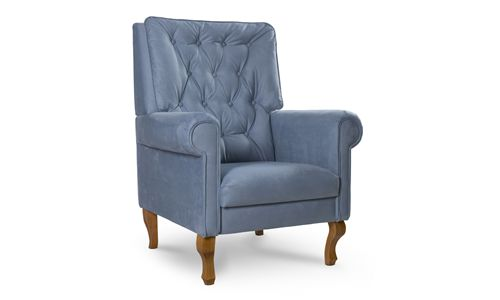 Poltrona Amamentação Clássica Luis XV Azul