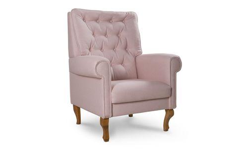 Poltrona Amamentação Clássica Luis XV Rosé